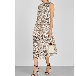 NWT JOIE Corrin leopard-print silk midi dress